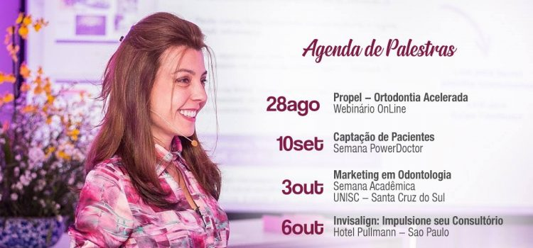 Agenda Dra. Marina Lara Palestras